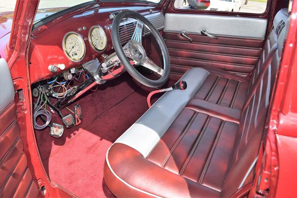 Interior of vintage truck